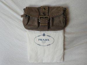 Prada Handtasche wildleder in grau
