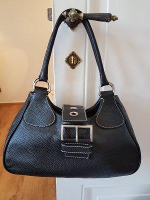 Prada Carry Bag black-white leather