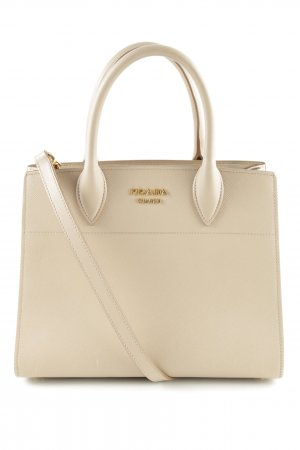 "Prada Carry Bag ""Bibliotheque Bag Saffiano Cameo Talco"" nude"