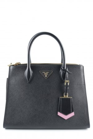 "Prada Carry Bag ""City C Tote Saffiano Nero Begonia"""