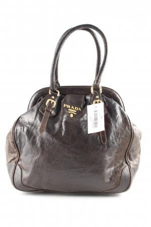 Prada Carry Bag dark brown Brit look