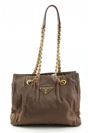 Prada Carry Bag light brown-gold-colored elegant