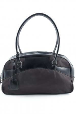 Prada Carry Bag black-dark brown material mix look