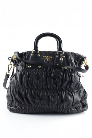 Prada Carry Bag black-gold-colored elegant