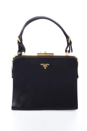 Prada Henkeltasche schwarz-goldfarben Eleganz-Look