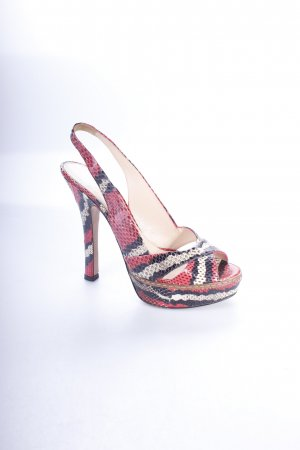Prada High Heel Sandal animal pattern reptile print