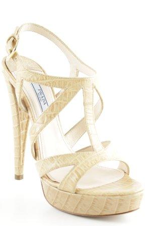 "Prada High Heel Sandaletten ""Cocco Sabbia "" camel"