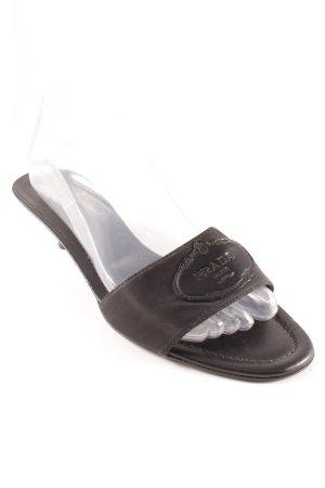 Prada Sandaletto con tacco alto nero elegante