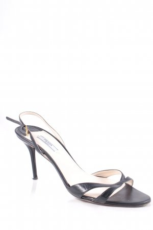Prada High Heel Sandal black-gold-colored elegant