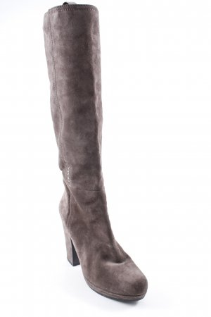 Prada High Heel Stiefel graubraun Elegant