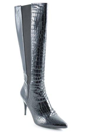 Prada High Heel Stiefel schwarz extravaganter Stil