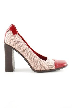 Prada High Heels rot-creme Webmuster Business-Look