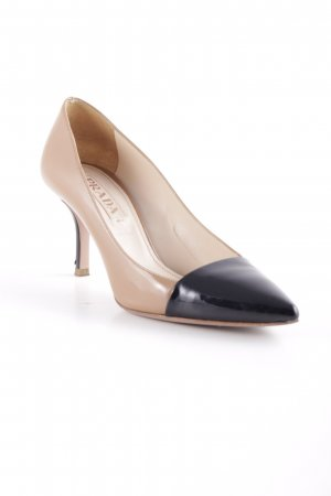 Prada High Heels beige-schwarz Elegant