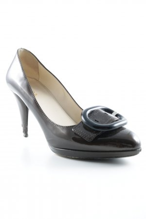 Prada High Heels braun Glanz-Optik