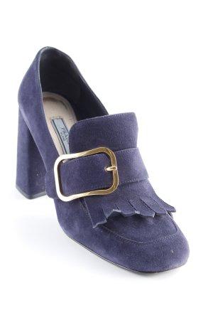 Prada High Heels dunkelblau Business-Look