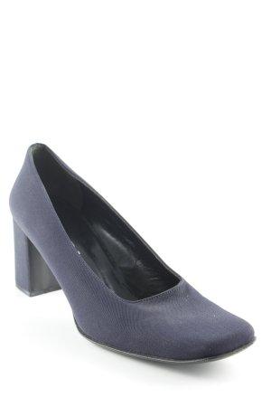 Prada High Heels dunkelblau extravaganter Stil