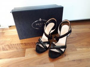 Prada High Heels, Sandaletten, schwarz