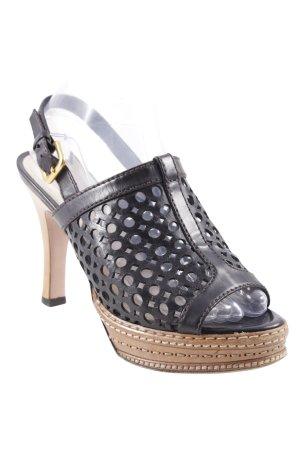 Prada High Heels schwarz-hellbraun Elegant