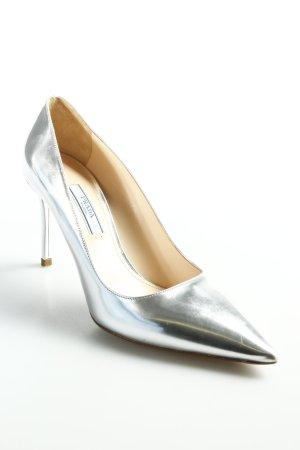 Prada High Heels silberfarben-nude Business-Look