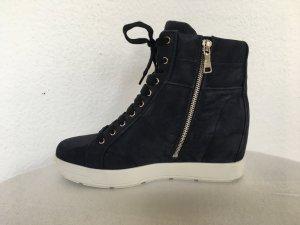 Prada, High Top Sneaker, Veloursleder, 39, blau, neu, € 600,-