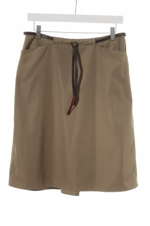 Prada High Waist Skirt ocher-dark brown casual look
