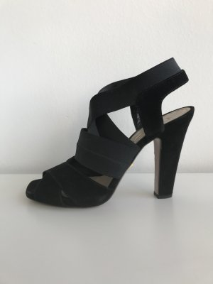 Prada Highheel, Sandale schwarz Velours