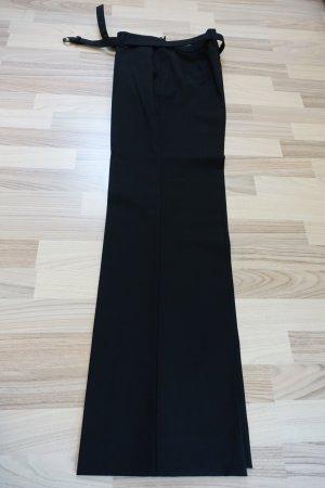 PRADA Hose, aus Schurwolle, mit Gürtel, schwarz, ITAL 46