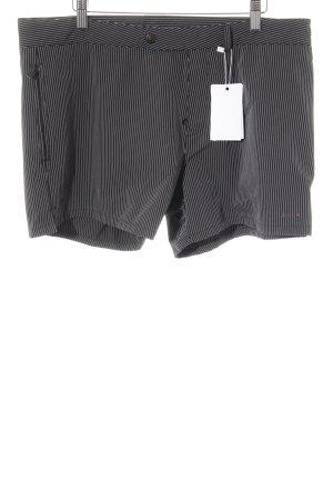 Prada Short moulant noir-blanc rayure fine style décontracté