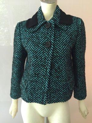 PRADA Jacke Blazer 34 Grün Schwarz Wolle Jacket Green Black Wool XS it 40 NEU