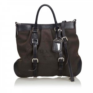 Prada Satchel dark brown