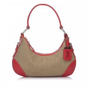 Prada Jacquard Shoulder Bag