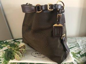 Prada Sac bronze-brun sable fibre textile