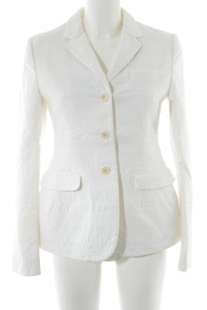 Prada Jersey Blazer natural white striped pattern business style