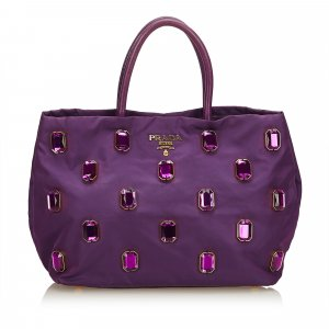 Prada Tote purple nylon