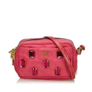 Prada Jeweled Nylon Crossbody Bag