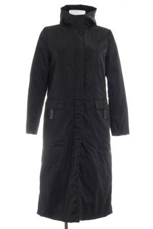 Prada Manteau à capuche noir style décontracté