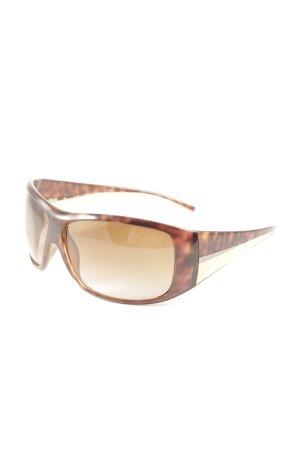 Prada Square Glasses brown casual look
