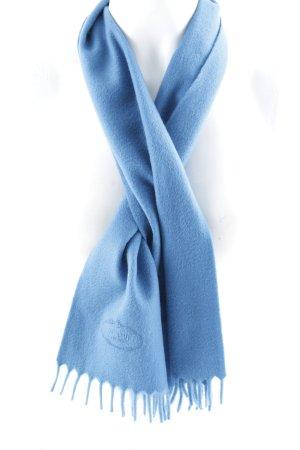 Prada Bufanda de cachemir azul elegante