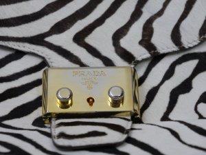 Prada kleine Handtasche aus Echtfell im Zebradesign