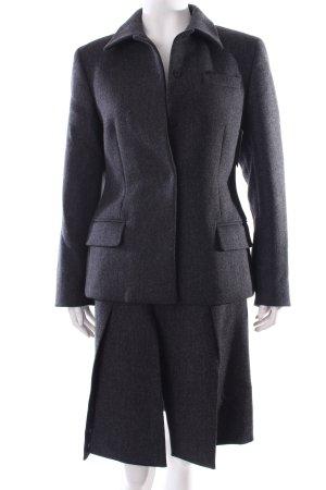Prada Kostüm schwarz-anthrazit Streifenmuster klassischer Stil