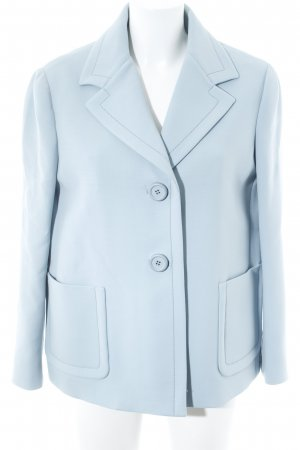 Prada Blazer corto azzurro stile professionale