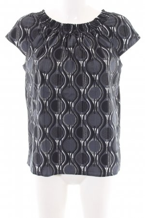 Prada Kurzarm-Bluse abstraktes Muster Business-Look