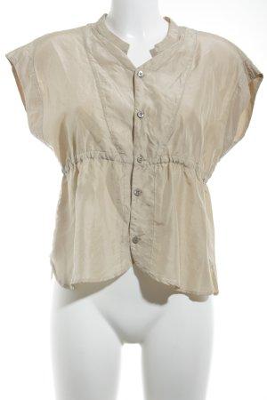 Prada Kurzarm-Bluse creme Elegant