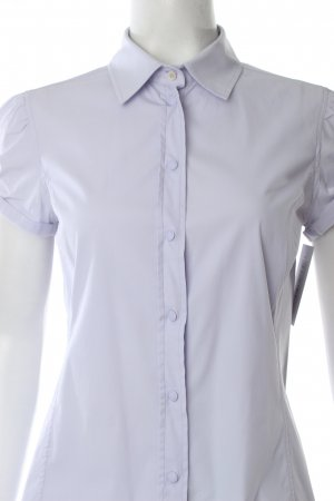 Prada Kurzarm-Bluse himmelblau klassischer Stil