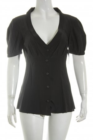 Prada Short Sleeved Blouse black elegant