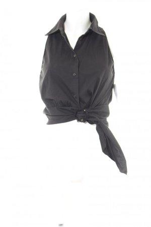 Prada Kurzarm-Bluse schwarz Elegant