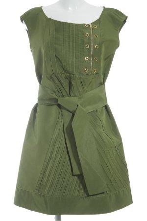 Prada Kurzarmkleid grasgrün-goldfarben Casual-Look