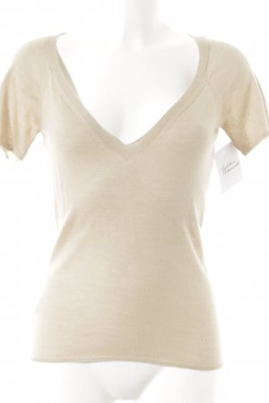 Prada Short Sleeve Sweater beige casual look