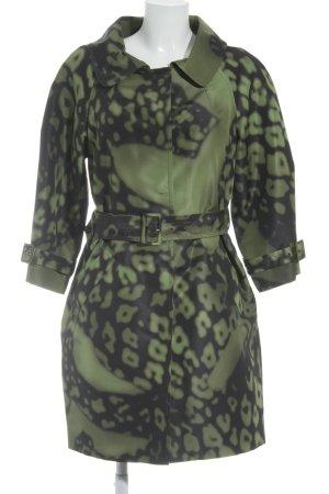 Prada Kurzmantel hellgrün-schwarz abstraktes Muster extravaganter Stil