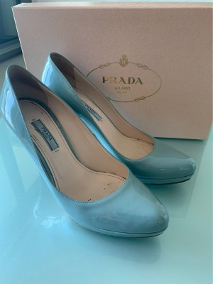 Prada High Heels azure-pale blue leather